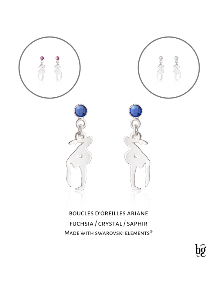 Boucles d'oreilles Ariane crystal